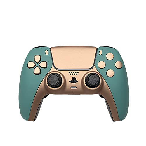 AimControllers PS5 Custom DualSense Wireless Controller, PlayStation 5 Personalized Gamepad, Remap, Smart Triggers Golden - Mercury