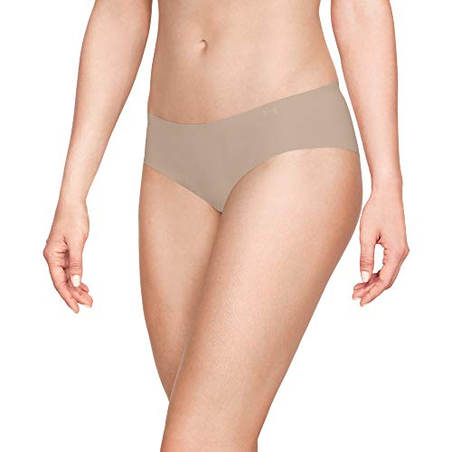Under Armour Women's Pure Stretch Hipster Multi-Pack, Nude (295)/Nude, Medium