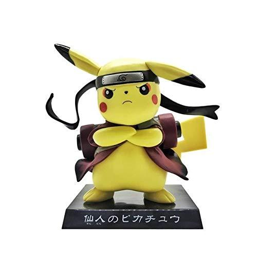 Boneco pikachu cosplay naruto action toy figures pvc