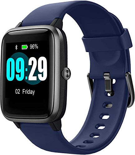 Updated 2019 Version Smart Watch for Android iOS Phone, Activity Fitness Tracker Watches Health Exercise Smartwatch with Heart Rate, Sleep Monitor Compatible with Samsung Apple iPhone