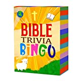 Edenia Bible Trivia Bingo - Christian Game for Families, Game Night, Sunday School, Fellowship - Fun for All Ages & Makes Great Christian Gift