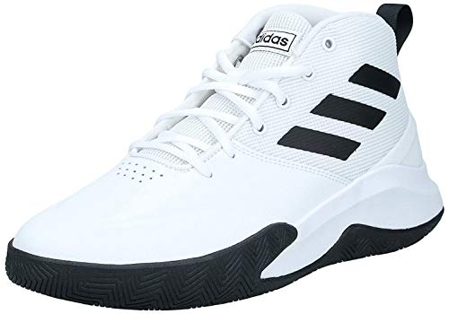 adidas Performance Ownthegame Basketballschuh Herren Weiss/schwarz, 9.5 UK - 44 EU - 10 US