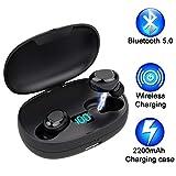 Écouteurs Bluetooth sans Fil 5.0 Jusqu'à 50 Heures en Lecture, Son Grave...