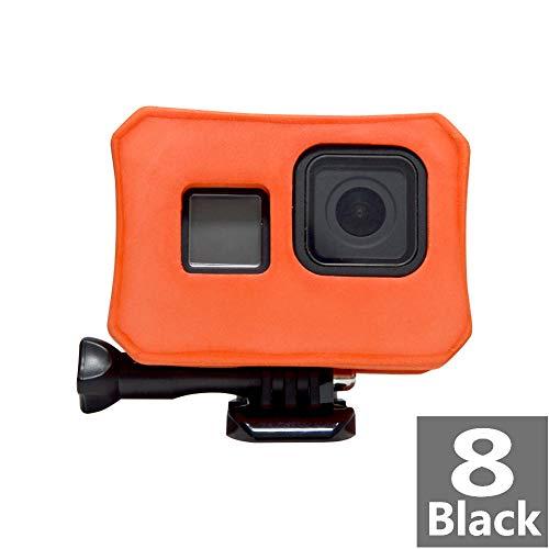Float Case Cover per GoPro 8 – Floaty Housing Frame per GoPro Hero 8 Black Camera Floater Anti-sink Floater accessorio galleggiante per sport acquatici – Arancione