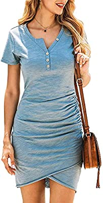 You Will Never Regret To Get One - The Womens Summer Dresses Adopts High Quality Fabric Blend Outer Fabric, Soft And Breathable,Will Offer You First-Class Comfort; With The Same Color Lining, Makes Sure Will Not See Through; The Comfy And Stretchy Ma...