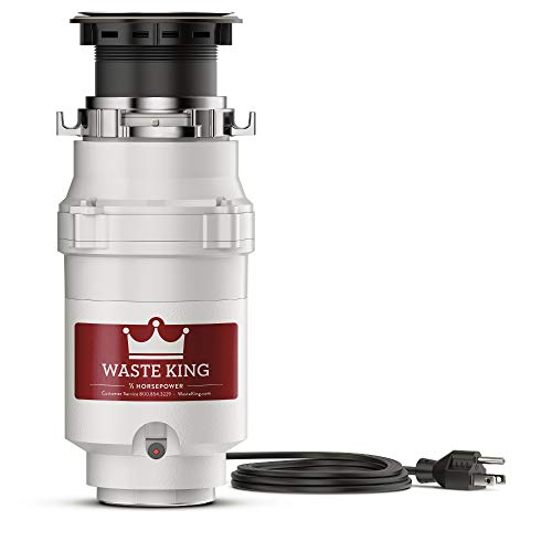 Waste King L-1001 Garbage Disposal with Power Cord, 1/2 HP