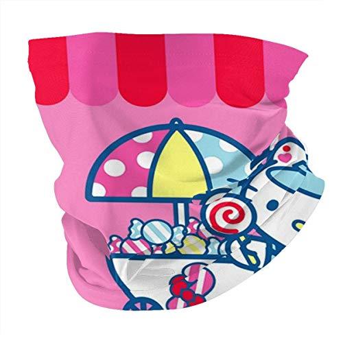 Multifunctional Headwear Hello Kitty Baby Shower Face Mouth Cover, Head Wrap, Neck Gaiter, Headband Bandana, Magic Scarf, Balaclava for Outdoor Black