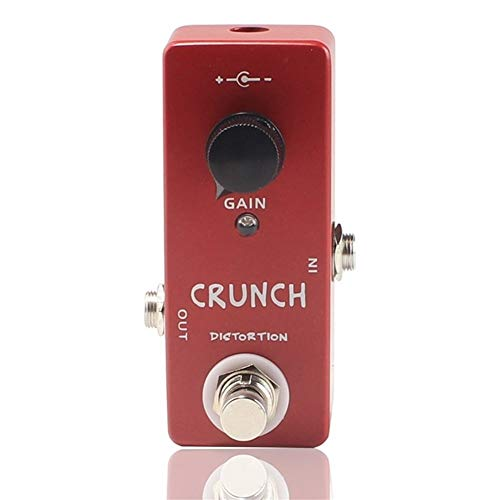 CHENTAOMAYAN Compressor Overdrive Looper Effect Pedal Electric Guitar Preamp Full Metal Shell True Bypass Guitar Parts accessories (Color : Crunch distortion)