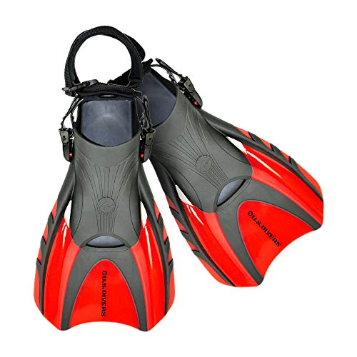 U.S. Divers Shredder Surf II Body Boarding and Body Surfing Fin (Red, Large, 10-13)