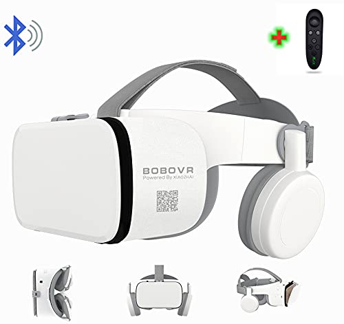 """3D Virtual Reality VR Headset with Wireless Remote Control, VR Glasses for IMAX Movies & Play Games , Compatible for Android iOS iPhone 12 11 Pro Max Mini X R S 8 7 Samsung 4.7-6.2"""" Cellphone"""