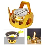 Wishdeal Portable Alcohol Stove Mini Aluminium Alloy Brass Burner for Outdoor Camping, Hiking, Backpacking, Picnic