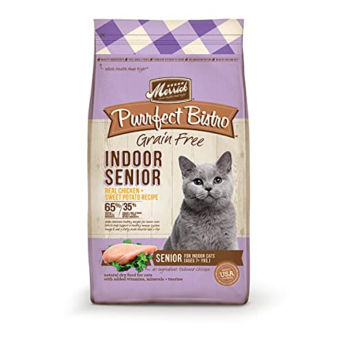 Merrick Purrfect Bistro Grain Free Indoor Senior Dry Cat Food, 7 Lbs.