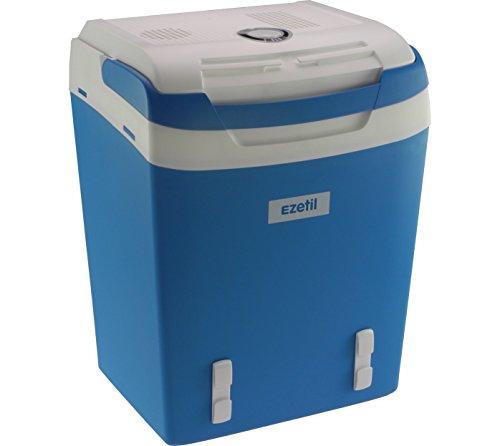 EZetil Glacière électrique portable Bleu-blanc – 12V et 230V –...