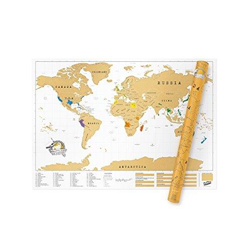 Carte du monde à gratter - Carte du monde personnalisée - Affiche à...