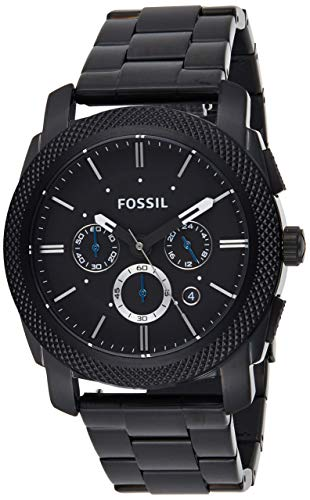 Fossil Herren Chronograph Quarz Uhr mit Edelstahl Armband FS4552