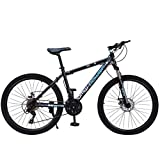 High Timber Youth/Adult Mountain Bike Junior Aluminum Full Mountain Bike 26 inch 21-Speed ​​Bicycle for Men, Women
