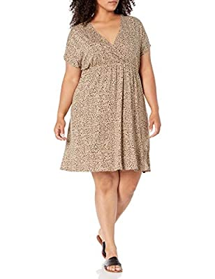 This simple dress features a V-neck and a fit and flare silhouette for all day comfort Everyday made better: we listen to customer feedback and fine-tune every detail to ensure quality, fit, and comfort Check out more from Amazon Essentials by visiti...
