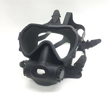 OTS Spectrum Full Face Mask, Black Clear Lens
