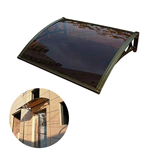 LIANGLIANG Marquesina Toldo Rainboard Techo Entrada Mudo Aislamiento Térmico Protector Solar A Prueba De Viento Materias Primas De Policarbonato (Color : Black, Size : 60x150cm)