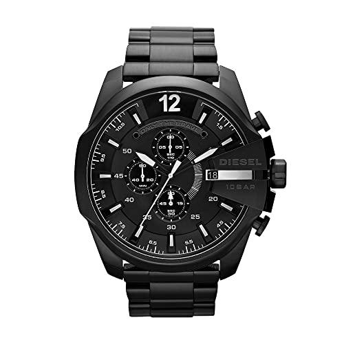 Diesel Herren Chronograph Quarz Uhr mit Edelstahl Armband DZ4283