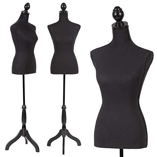 Mannequin Dress Form Female Dress Model Torso Display Mannequin Body 60-67 Inch Height Adjustable Tripod Stand