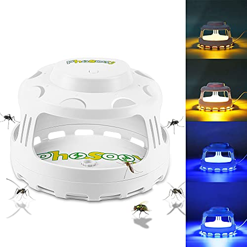 Phosooy Flea Trap, 4-in-1 Electric Pest Trap with...