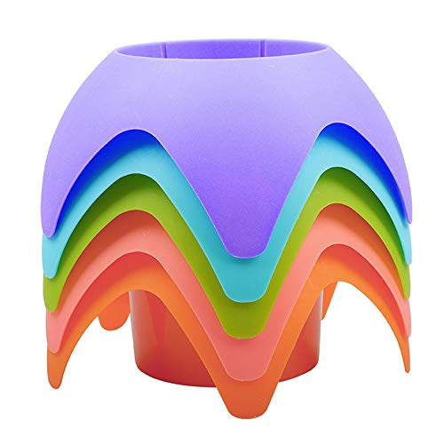 Beach Vacation Accessories, AOMAIS Beach Sand Coasters Drink Cup Holders(MultiColor, 5 Pack)