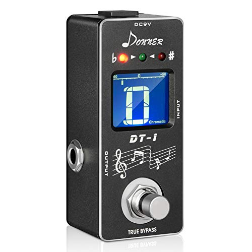 Donner DT-1 Guitar Chromatic Auto Pedal Tuner with LCD Display True Bypass