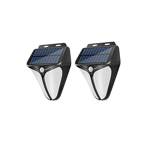 Solar Lights Outdoor with Motion Sensor Outdoor Light Flood Light Security Lights ip65 Waterproof Solar Sensor Lights Outdoor for Front Door Garden Patio Yard Steps Entryways,Small (2Pcs White)