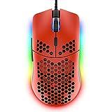 Kabelgebundene Gaming-Maus, 69g, Gehäuse im Wabendesign, leichte Maus mit 6.400dpi