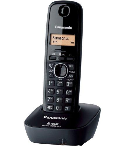 Panasonic Single Line 2.4 KX-TG3411SX Digital Cordless Phone (Black)