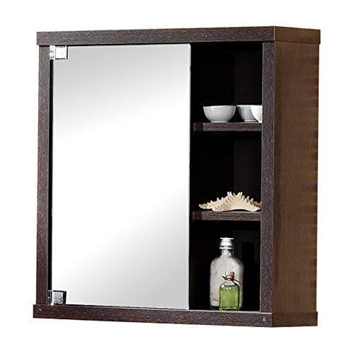 Intradisa, 8910, Armadietto da bagno con 1 anta a specchio laterale, colore: Weng