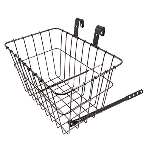 Wald 135 Front Grocery Bicycle Basket (14.5 x 9.5 x 9, Black)