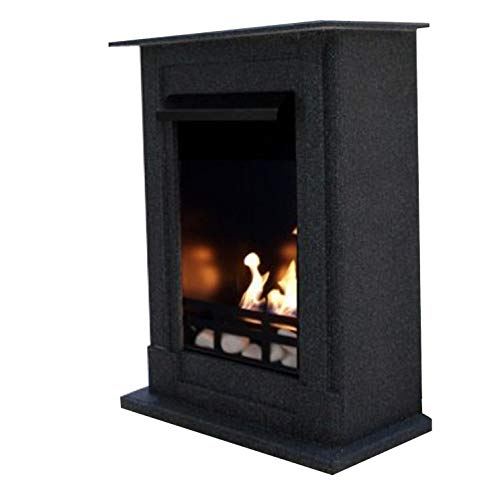 Gel + Ethanol Fireplace Madrid Deluxe - Choose from 9 colors (Granite dark)