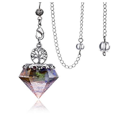 7 Chakra Dowsing pendulum Crystal Divination Tree Of Life...