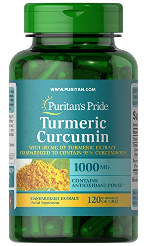 Puritans Pride Turmeric Curcumin with Bioperine, 1000mg, 120 Count