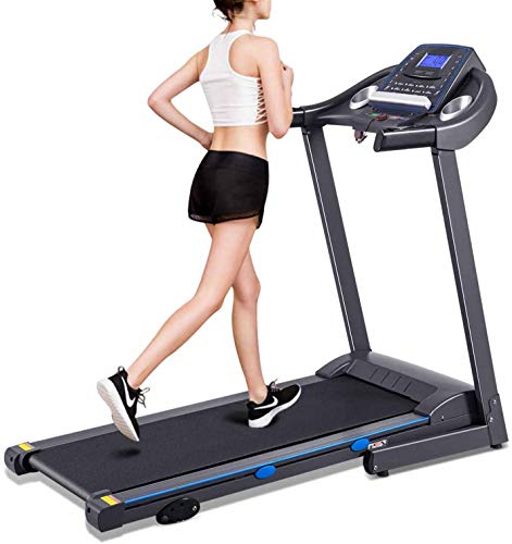 MMDXLO Treadmills for Home Foldable 150kg Electric Folding Treadmill Motorized Running Walking Machine with LCD Display