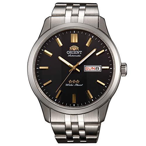 Orient Herren Analog Automatik Uhr mit Edelstahl Armband RA-AB0013B19B