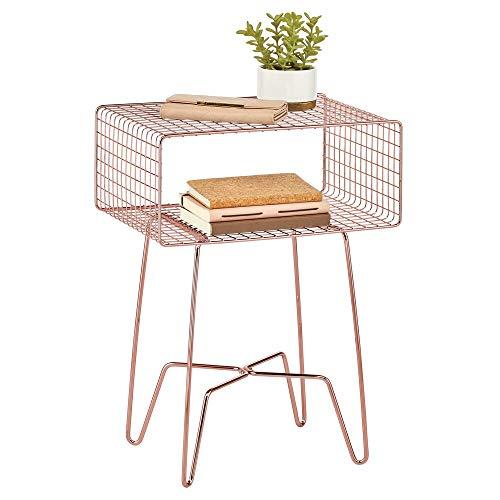 mDesign Tavolino consolle in metallo di design Elegante cassettiera vintage in stile industrial...