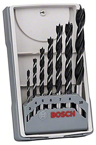 Bosch Professional Set Robust Line Con 7 Brocas Helicoidales Para Madera (Madera, Accesorios Para Taladro Atornillador)