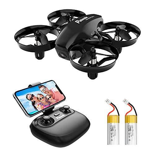 Potensic Mini Drone con Telecamera Telecomando Quadricottero WiFi Batteria Rimovibile con Funzione di Sospensione Altitudine, Modalit Senza Testa, Adatto per Principianti Buon Regalo per Bambini Nero