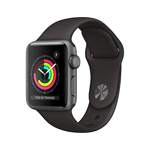 Apple Watch Series 3 (GPS, 38mm) - Space Grey Aluminum Case with Black Sport Band
