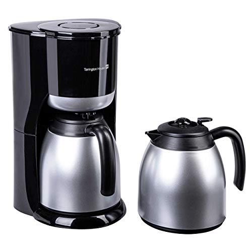 Tarrington House CM9014D Kaffeemaschine | 900 Watt | 1 x 4 | 2 x Thermokanne | Antitropf | Papierfilterhalter abnehmbar | Kontrollleuchte | Wasserstandsanzeige