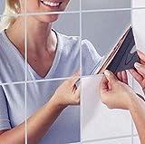 axuanyasi 18Pcs Miroir Autocollant Miroir Adhésif Décoratif Miroir Carrés...