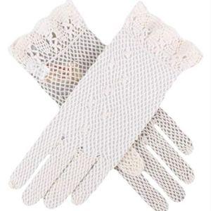 Dents Womens Cotton Crochet Gloves – Ecru Cream