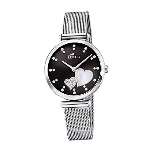 Lotus Damen Analog Quarz Uhr mit Edelstahl Armband 18615/4