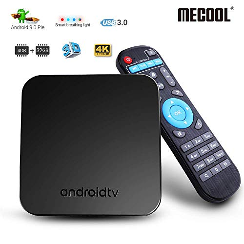MECOOL Android 9.0 TV Box, 4GB RAM 32GB