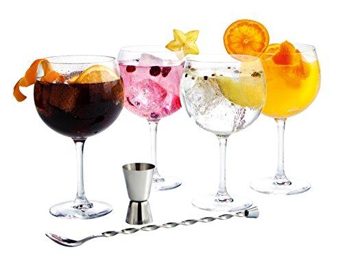Luminarc - Fiesta Combinados, Set per cocktail da 6 pz., incl. 4 bicchieri, misurino e cucchiaino