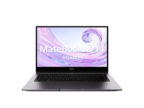 "Huawei Matebook D14 - Ordenador Portátil Ultrafino de 14"" FullHD (AMD Ryzen 5 3500U, 8GB RAM, 256GB SSD, Radeon Vega 8 Graphics, Windows 10 Home) Space Gray - Teclado Qwerty Español"