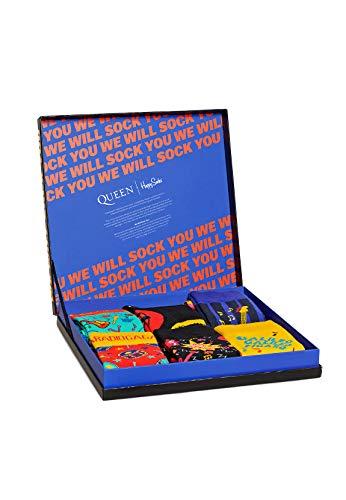Happy Socks XQUE10-0100 - Set di calzini in confezione regalo, tema Queen, 6 pezzi, multicolore